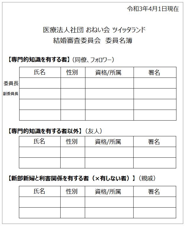 委員名簿_Wedding ver
