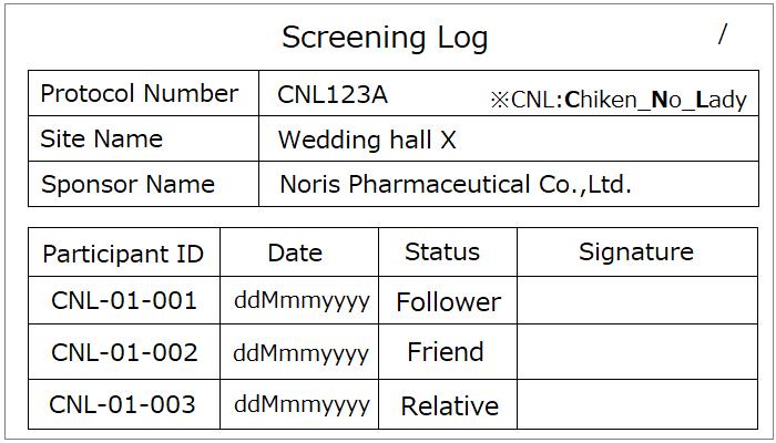 Screening Log_Wedding ver